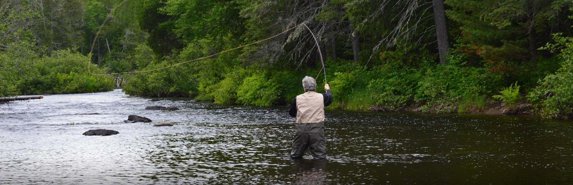 Northern maine fishing trips spaulding lake outfitters for Lake fishing near me